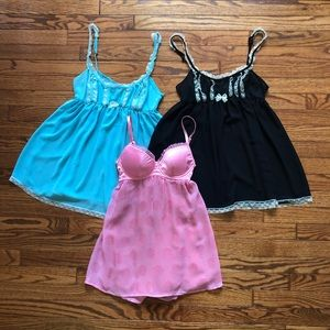 Bundle of 3 Victoria's Secret Babydoll, Size 34B